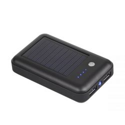 M-Life POWER BANK 6000mAh Solar 2xUSB, latarka, kabel USB