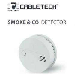 Cabletech - Detektor czadu i dymu (2 w1) na baterie 2xAA