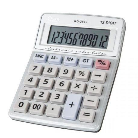 Kalkulator RD-2812 Quer, mały podręczny do domu lub biura.
