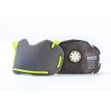 BANALE Maska przeciwpyłowa, antysmogowa, PM 2,5 PM10 - zielono-żółta