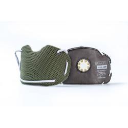 BANALE Maska przeciwpyłowa, antysmogowa, PM 2,5 PM10 - szaro-żółty