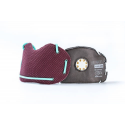 BANALE Maska przeciwpyłowa, antysmogowa, PM 2,5 PM10 - burgundowo-błękitny