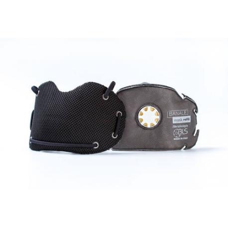 BANALE Maska przeciwpyłowa, antysmogowa, PM 2,5 PM10 - czarna