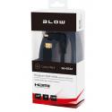 Przyłącze HDMI-HDMI BLACK 3m kątowe skręcane BLOW 92-653