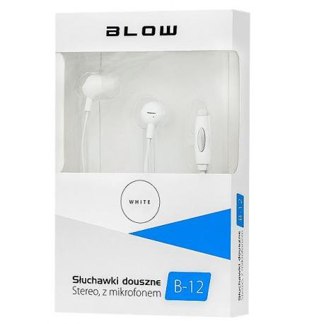 Słuchawki BLOW B-12 WHITE douszne 13Hz-22,5KHz