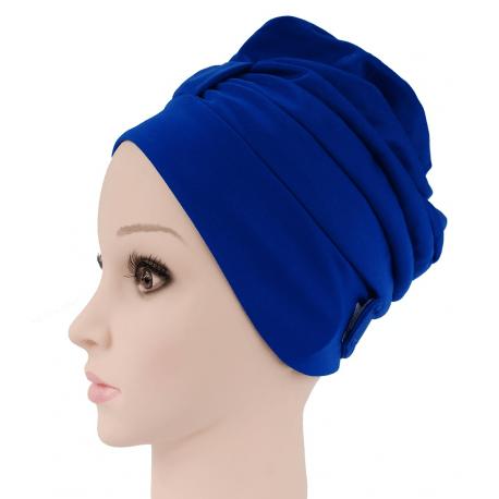 Fashy Czepek kąpielowy na długie włosy - niebieski