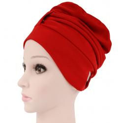 Fashy Czepek kąpielowy na długie włosy - czerwony