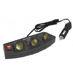 BLOW Rozgałęziacz zapalniczki samochodowej CS-35 1 wtyk 3 gniazda + USB