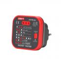 Wskaźnik sieci 230 V AC z testerem RCD Uni-T UT07B-EU