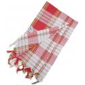 Fashy Hammam bawełniany ręcznik do sauny na plażę lub basen, czerwony