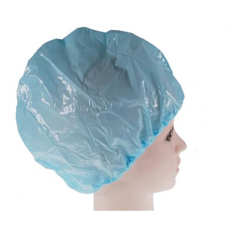 FASHY Czepek foliowy kąpielowy, pod prysznic niebieski