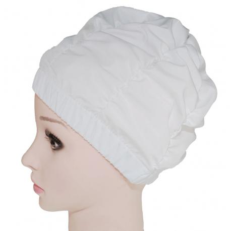 Fashy Czepek kąpielowy na długie włosy, biały, bez rzepa