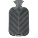 Fashy Termofor 2l, wzór fala 3D, kolor metalik stalowy
