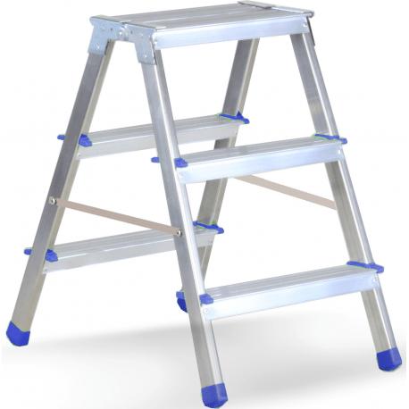 CASABRIKO drabina aluminiowo-stalowa BOBO PLUS 3 stopnie