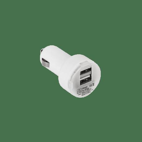 Ładowarka samochodowa USB 2.1A dual biała