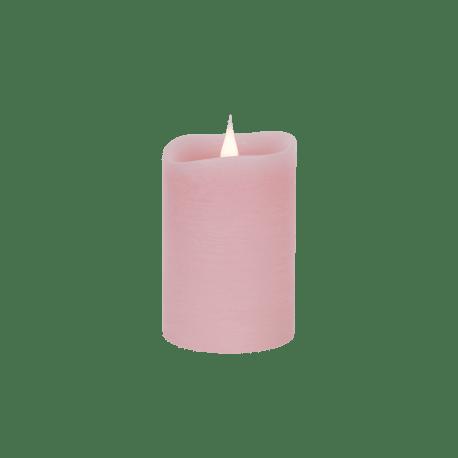 Świeca woskowa LED rustic pink mała z ruchomym płomykiem, LED0203