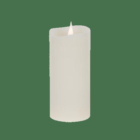 Świeca woskowa LED ivory średnia z ruchomym płomykiem, LED0200-1