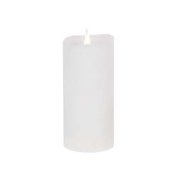Świeca woskowa LED rustic white średnia z ruchomym płomykiem, LED0202-1