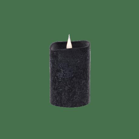 Świeca woskowa LED rustic black mała z ruchomym płomykiem, LED0201