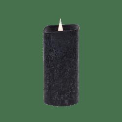 Świeca woskowa LED rustic black średnia z ruchomym płomykiem, LED0201-1