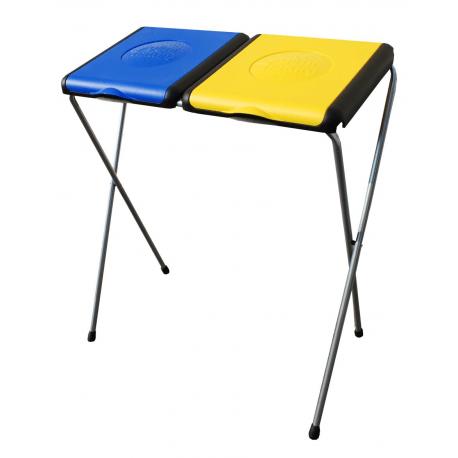 GIMI Nature 2 - stojak 2x120l, stelaż na worki, na śmieci żółto-niebieski