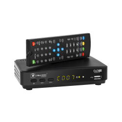 Tuner cyfrowy DVB-T2 HD H.265 HEVC LAN. do telewizji naziemnej Cabletech, URZ0329