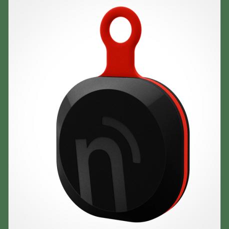 notiOne brelok czarno-czerwony, uniwersalny mobilny lokalizator