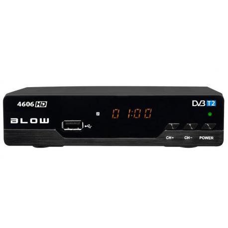 Tuner cyfrowy DVB-T2 HD do telewizji naziemnej BLOW 4606HD