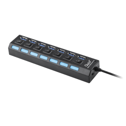 QUER PRO HUB USB 3.0 7 portowy