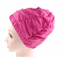 Fashy Czepek kąpielowy na długie włosy, różowy, bez rzepa