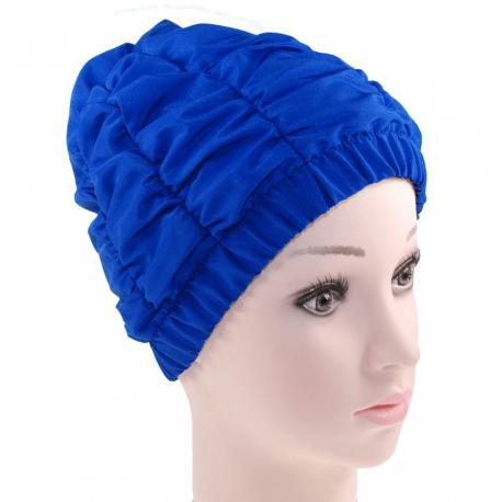 Fashy Czepek kąpielowy na długie włosy, niebieski, bez rzepa