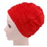 Fashy Czepek kąpielowy na długie włosy, czerwony, bez rzepa