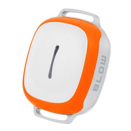 BLOW Lokalizator GPS BL01 uniwersalny biało-pomarańczowy GPS + AGPS + 3LBS