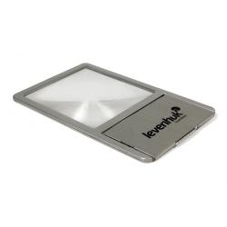Levenhuk Lupa Zeno 90 z soczewką Fresnela, 2,5x, 48 x 45 mm, metalowa, LED