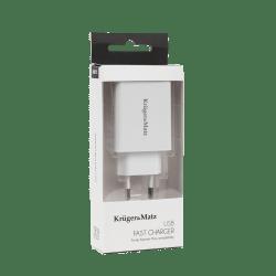 Kruger&Matz Ładowarka sieciowa USB z funkcją Pump Express 2.0 KM0131