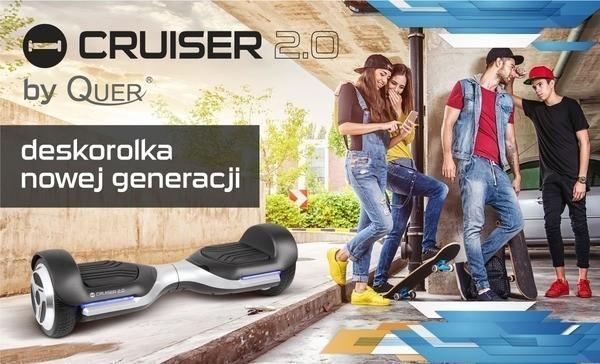 Cruiser 2.0 by QUER, jeździk elektryczny deskorolka